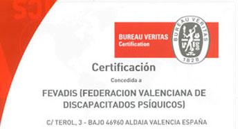 Certificado Fevadis